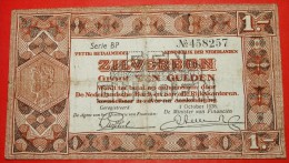 ★SILVER NOTE: NETHERLANDS★ 1 GULDEN 1938!  LOW START★NO RESERVE! - [2] 1815-… : Koninkrijk Der Verenigde Nederlanden
