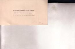 MONS Monseigneur De CROY Protonotaire Apostolique Curé-doyen De Sainte Waudru Carte De Visite Fin 19e Siècle - Cartes De Visite