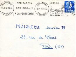 KRAG 1958 - QUIMPERLE - Son Pardon Des Oiseaux à La Pentecôte - Ses Deux Villes - Annullamenti Meccanici (pubblicitari)