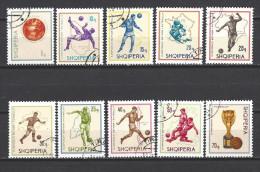 ALBANIE 1966 Yvert N° 860 à 869 Oblitéré Used - Albanie