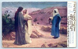 POSTCARD RUTH AND NAOMI P.H CALDERON R.A Religion Christian - Jewish