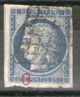 """N°4°_Voisin_belles Marges_""""C"""" Ouvert_voir Détail_cote 60.00+_aminci - 1849-1850 Cérès"""
