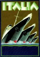 # OCEAN LINER Art Print Stampa Gravure Poster Druck Ship America Atlantic Vintage Italy AustriaTrieste Brindisi Egypt - Maritime Decoration