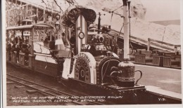 POSTCARD NEPTUNE THE FAR TOTTERING AND OYSTER CREEK RAILWAY FESTIVAL GARDENS FESTIVAL OF BRITAIN 1951 V 13 - Trains