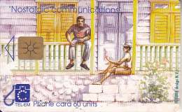 SAINT MARTIN - Men Behind The House, Chip GEM1a, Used - Antilles (Netherlands)