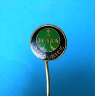 NIKOLA TESLA - Famous Inventor * Vintage Pin Badge Radio Physicist Physicien Physiker Inventeur Anstecknadel Distintivo - Celebrities