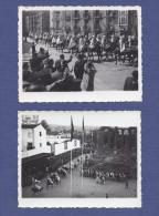 1940 Desfile Centenario BATALHA Do SALADO, Em Évora (Populares Em Saudação Nazi). Set Of 2 Vintage Real Photo PORTUGAL - Guerre, Militaire