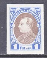 ALBANIA  193 B   IMPERF.    *  VARIETY  NOT  REGULAR  ISSUE - Albania