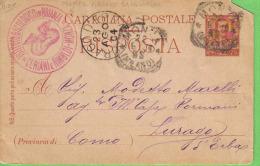 ISTITUTO BACOLOGICO IN BRIANZA CERIANI E RIMOLDI MONZA VIAGGIATA 1904 - Publicité