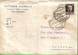 FATTORIA DIANELLA VINCI FIORENTINO VIAGGIATA 1936 - Pubblicitari