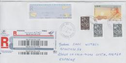 483/ Frankreich, Automatenmarken, Einschreiben  2015 N. Spanien - France