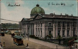 ! Alte Ansichtskarte Brisbane, Custom House, Tramway, Straßenbahn, Queensland, Australia - Brisbane