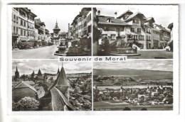 CPSM MORAT (Suisse-Fribourg) - 4 Vues - FR Freiburg