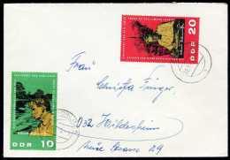 35113) DDR - 2 Briefe - Michel 1084 / 1086 - Albert Schweitzer - Storia Postale