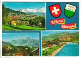 CPM OLLON (Suisse-Vaud) - VILLARS CHESIERES : 3 Vues - VD Vaud