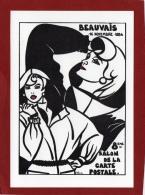 OISE 60 BEAUVAIS CARTE PIRATE ILLUSTRATEUR J LARDIE DIT JIHEL POUR LE SALON DE LA CP - Collector Fairs & Bourses