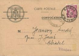 1939 - EPINAL (88) - Convocation Pour Examen Du PERMIS DE CONDUIRE - - Documentos Históricos