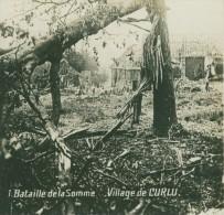 France WWI Curlu Somme Village En Ruines Bombardements Ancienne Photo SIP 1914-1918 - Guerre, Militaire
