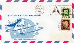 ★ US - FIRST SHUTTLE ORBITER LANDING - EAFB (7639) - FDC & Conmemorativos
