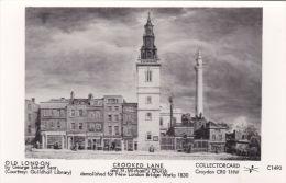 LONDON - CROOKED LANE@ ST MICHAELS CHURCH. COLLECTORCARD - London Suburbs