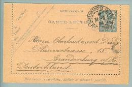 France Levante Constantinopel 1904-03-31 Ganzsache Brief Nach Brandenburg - Lettres & Documents