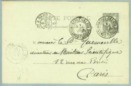 France Levante Constantinopel 1895-06-01 Franz.Ganzsache Nach Paris - Lettres & Documents