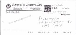 MONTEFLAVIO  - 00010 ROMA - CAMPIONE FOTOGRAFICO  DI 5 - FTO 11X23 - TEMA TOPIC COMUNI D´ITALIA - STORIA POSTALE - Affrancature Meccaniche Rosse (EMA)