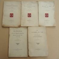 Histoire - 5 Revues - V.  HUNGER - Ville De VIRE,  Exécutions Criminelles, Foires, Moulins, Vicomtes, Procureur.. - Normandie