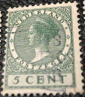 Netherlands 1924 Queen Wilhelmina 5c - Used - 1891-1948 (Wilhelmine)