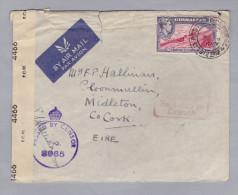 Gibraltar 1944-01-03 Zensur Brief Nach Co Cork Eire - Gibraltar