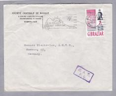Gibraltar 1964-12-11 O.A.T. F.8. Brief Nach Hamburg - Gibraltar