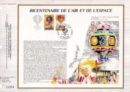 """FRANCE 1983 : Feuillet CEF 1er Jour """" BICENTENAIRE DE L´AIR ET DE L´ESPACE """". Parfait état. PA - Airships"""