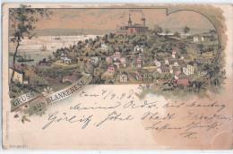 Gruss Aus BLANKENESE Hamburg Color Litho Vorläufer 4.9.1896 Gelaufen M Ortsstempel SPROTTAU - Blankenese