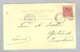 Gibraltar 1902-07-07 AK Nach Goldach Schweiz - Gibraltar