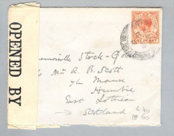 Gibraltar 1917-03-08 Zensurbrief Nach Humbie Scotland - Gibraltar