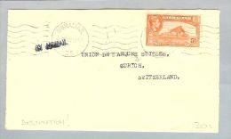Gibraltar 1929-11-04 Brief Nach Zürich Schweiz Einzelfrankatur - Gibraltar