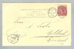 Gibraltar 1902-07-08 Postkarte Nach Goldach Schweiz - Gibraltar
