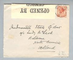 Gibraltar 1917-07-25 Zensurbrief Nach North Benrick Scotl. - Gibraltar