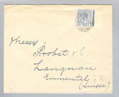 Gibraltar 1922-02-15 Brief Nach Langnau BE Schweiz - Gibraltar
