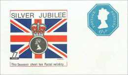 Entier Postal Stationary Machin 6 1/2p Silver Jubilee 1952 1977 - Stamped Stationery, Airletters & Aerogrammes