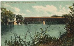 Farmington Falls The Covered Bridge Pont Couvert En Bois  Used 1912  Edit Lewis 31402 - Etats-Unis