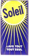 Lessive : Ancien Paquet De Poudre à Lessiver Soleil ) Lave Tout Seul (années 1950) - Parfums & Beauté
