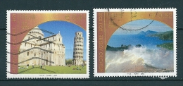 2002 PISA ISOLE EOLIE UNESCO SERIE COMPLETA  USATO - 6. 1946-.. Repubblica