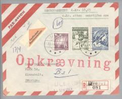 Grönland 1983-04-13 Ivigtut R-NN-Brief Nach Kinnahult Schweden - Groenland