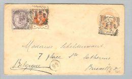 GB 1898-07-18 Ganzsache Nach Bruxelles - 1840-1901 (Viktoria)