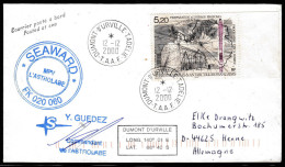"""ANTARCTIC,TAAF , D.D´URVILLE , 12.12.2000, M/V""""L'ASTROLABE"""", 3 Cachets + Sign,look Scan !! 1.5-33 - Antarktis-Expeditionen"""