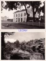 2  CPSM 9X14  De  VIVONNE   (86) -  La GARE - Le Bassin De La VONNE Et Le PONT Des CARMES - Vivonne