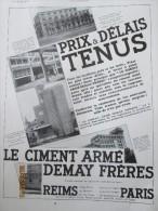 1931 Moulin Du Chateau  Bourbon L Archambault    Silos   à Blé    Publicité Ciment Armé  Demay Freres - Unclassified