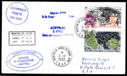 """ANTARCTIC,TAAF, AMSTERDAM , 6.12.1994, M/N""""AUSTRAL"""", 5 Cachets, Nice Stamps ,look Scan !! 1.5-28 - Antarktis-Expeditionen"""