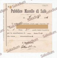 1910 - Pubblico Macello Di SALO' - Macellazione Di Un Suino Maiale Pig - Veterinario - Lago Di Garda - Italia